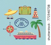 ocean cruise travel icon set.... | Shutterstock .eps vector #772540738