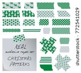 real adhesive tapes set.... | Shutterstock .eps vector #772541029