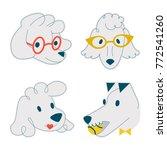llustration of cute dogs set | Shutterstock .eps vector #772541260
