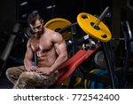 sexy strong bodybuilder... | Shutterstock . vector #772542400