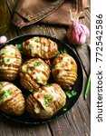 tasty stuffed potatoes with... | Shutterstock . vector #772542586