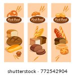 vector banners bread products . ... | Shutterstock .eps vector #772542904