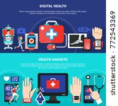 digital health gadgets devices... | Shutterstock .eps vector #772543369