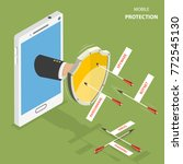 mobile protection flat... | Shutterstock .eps vector #772545130
