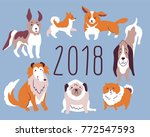 new year illustration 2018 with ... | Shutterstock .eps vector #772547593