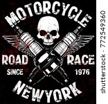 motorcycle t shirt graphic... | Shutterstock .eps vector #772549360
