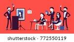 auction public sale. potential... | Shutterstock .eps vector #772550119