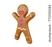 gingerbread man isolated on...   Shutterstock . vector #772550284