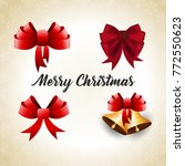 christmas greetings card with... | Shutterstock .eps vector #772550623