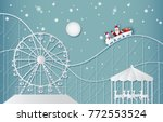 happy new year and merry... | Shutterstock .eps vector #772553524
