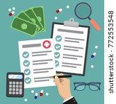 health insurance form concept... | Shutterstock .eps vector #772553548