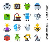 robot icons vector set logo... | Shutterstock .eps vector #772554004