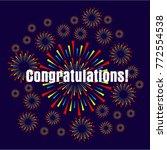 congratulations  beautiful... | Shutterstock .eps vector #772554538