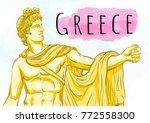 god apollon. the mythological...   Shutterstock .eps vector #772558300