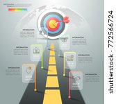 road to success infographic... | Shutterstock .eps vector #772566724