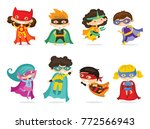 cartoon vector illustration of... | Shutterstock .eps vector #772566943