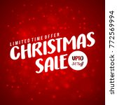 christmas sale card. limited... | Shutterstock .eps vector #772569994