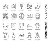 hospital  medical flat line... | Shutterstock .eps vector #772570093