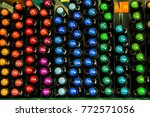 lots of markers of different... | Shutterstock . vector #772571056