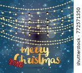 christmas greetings card vector ... | Shutterstock .eps vector #772571350