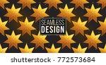 gold polygonal shape  magic... | Shutterstock .eps vector #772573684