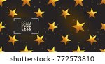 gold polygonal shape  american... | Shutterstock .eps vector #772573810