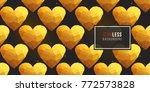 gold polygonal shape  golden... | Shutterstock .eps vector #772573828