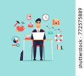 crisis  frustrated businessman... | Shutterstock .eps vector #772575889