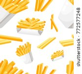 seamless pattern french fries... | Shutterstock .eps vector #772577248