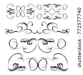 decorative  calligraphic... | Shutterstock .eps vector #772577740