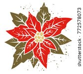Poinsettia Flower. Vector...