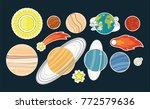planets. solar system  space ... | Shutterstock .eps vector #772579636