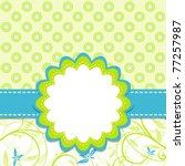 template greeting card  vector... | Shutterstock .eps vector #77257987
