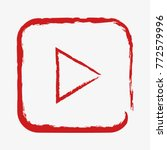 youtube botton. concept  | Shutterstock .eps vector #772579996