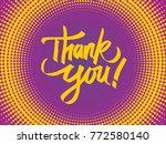 thank you illustration vector | Shutterstock .eps vector #772580140
