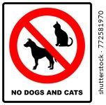 no pets allowed sign. round red ... | Shutterstock .eps vector #772581970