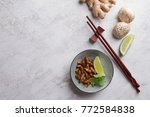 fried insects  wood worm insect ...   Shutterstock . vector #772584838