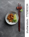fried insects  wood worm insect ...   Shutterstock . vector #772585234
