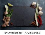 ingredients for spicy asian...   Shutterstock . vector #772585468