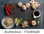 ingredients for spicy asian...   Shutterstock . vector #772585660