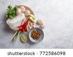 ingredients for spicy asian...   Shutterstock . vector #772586098
