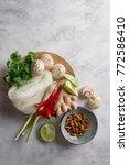 ingredients for spicy asian...   Shutterstock . vector #772586410