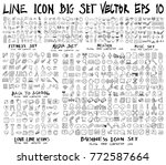 set of line icon vector fitness ... | Shutterstock .eps vector #772587664
