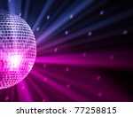 party lights disco ball | Shutterstock . vector #77258815