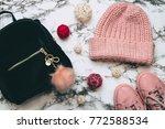 fashion woman set of velvet... | Shutterstock . vector #772588534