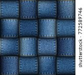 jeans patchwork background.... | Shutterstock .eps vector #772589746