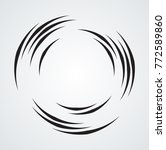 lines in circle form . spiral... | Shutterstock .eps vector #772589860