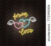 angel wing lettering. neon...   Shutterstock .eps vector #772590304