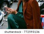 milan   september 23  woman...   Shutterstock . vector #772593136