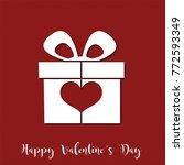 valentine s day background with ... | Shutterstock . vector #772593349
